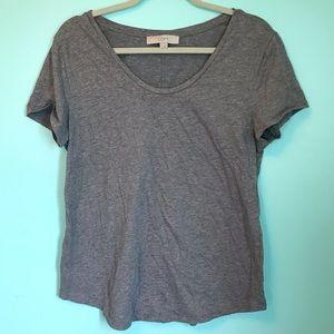 LOFT Gray Sparkling T-shirt sz L